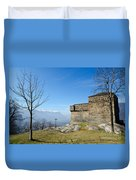 Castle And Trees Duvet Cover