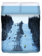 Cat Skiing At Fortress Mountain Duvet Cover