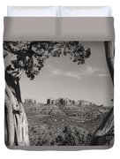 Cathedral Rock Framed By Juniper In Sedona Arizona Duvet Cover