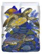 Cayman Turtles Duvet Cover
