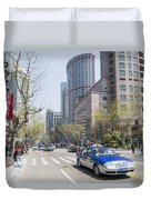 Central Shanghai In China Duvet Cover