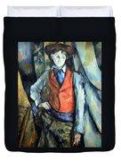 Cezanne's Boy In Red Waistcoat Duvet Cover
