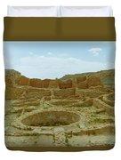 Chaco Canyon Ruins Duvet Cover