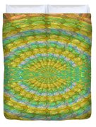 Chakra Mandala Green Wheel Meditation Unique Style Creative Beads Crystal Energy Healing Round Oval  Duvet Cover