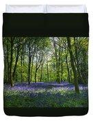 Chalet Wood Wanstead Park Bluebells Duvet Cover