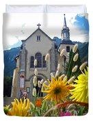 Chamonix Church Duvet Cover