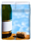 Champagne Bottle And Cork Duvet Cover