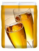 Champagne In Glasses Duvet Cover