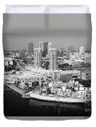 Channel District Tampa Florida Duvet Cover