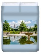 Charlotte North Carolina View From Greenway Duvet Cover
