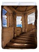 Chateau De Blois Staircase / Loire Valley Duvet Cover