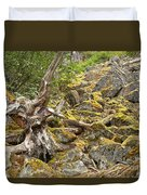Cheakamus Rainforest Debris Duvet Cover
