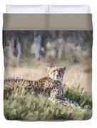 Cheetah Acinonyx Jubatus Duvet Cover