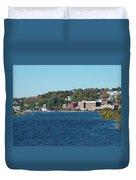 Chelsea Harbor In Fall Duvet Cover