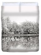 Cherry Blossoms In Tokyo Duvet Cover