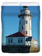Chicago Harbor Lighthouse Duvet Cover