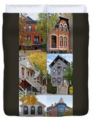 Chicago Historic Old Town Triangle Duvet Cover by Christine Till