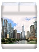 Chicago Panorama Duvet Cover