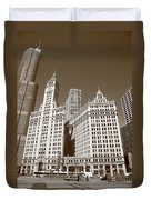 Chicago Skyscrapers Duvet Cover
