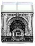Chicago Theater Marquee Duvet Cover
