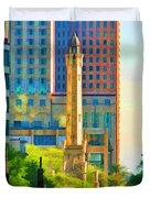 Chicago Water Tower Beacon Duvet Cover