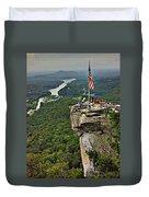 Chimney Rock Overlook Duvet Cover