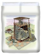 Chinese Astronomical Clocktower Built Duvet Cover