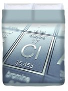 Chlorine Chemical Element Duvet Cover