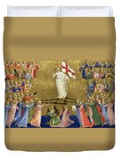 Christ Glorified In The Court Of Heaven Duvet Cover