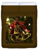 Christmas Bells Ornaments Faneuil Hall Tree Boston Duvet Cover