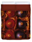 Christmas Ornaments In Box Duvet Cover