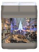 Christmas Shopping In Toronto Duvet Cover