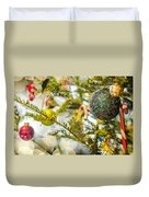 Christmas Tree Ornaments And Decorations Duvet Cover