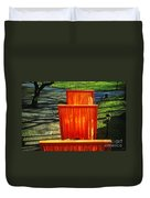 Christo - The Gates - Project For Central Park Duvet Cover