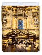 Church Facade Duvet Cover