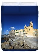 church in Camogli Duvet Cover