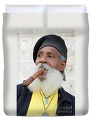 Cigar Man Duvet Cover