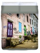 Cincinnati Glencoe-auburn Row Houses Picture Duvet Cover