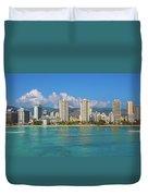 City At The Waterfront, Waikiki Duvet Cover