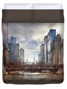 City - Chicago Il - Looking Toward The Future Duvet Cover
