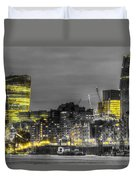 City Of London At Night Duvet Cover