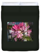 Cleome Named Cherry Queen Duvet Cover