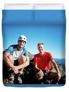 Climbing Foley Peak Duvet Cover