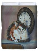 Clockwork Cat Duvet Cover