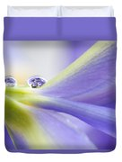 Close Up Iris Duvet Cover