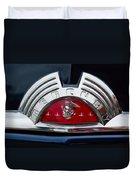 Close-up Of A Mercury Classic Car Of Duvet Cover
