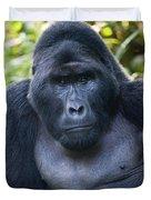 Close-up Of A Mountain Gorilla Gorilla Duvet Cover