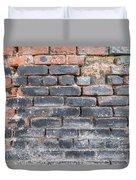 Close-up Of Old Brick Wall Duvet Cover