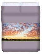 Clouds Over Landscape At Sunset Duvet Cover