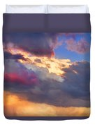 Cloudscape Sunset Touch Of Blue Duvet Cover